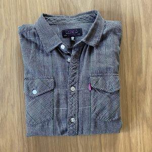 Mishka MNWKA NYC Houndstooth Flannel Shirt XL